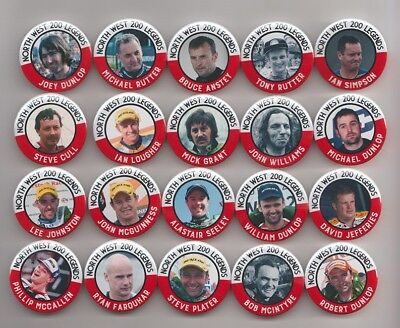 NORTH WEST 200 LEGENDS MAGNETS  X20    38mm  IN SIZE