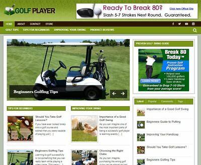 Golf Wp Wordpress Blog - New Established Profitable Turnkey Website For Sale