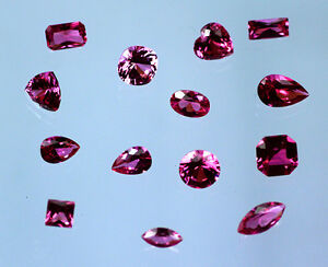 Lab-Created-Ruby-Hot-Pink-Choice-of-Cut-Size-2mm-20mm