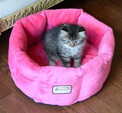 """Armarkat Cozy Pet Bed size: 15""""L x 7""""W x 8""""H, Pink"""