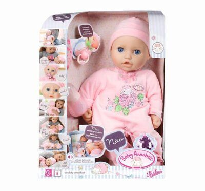 LIFELIKE FUNCTIONS INTERACTIVE DOLL BABY ANNABELL 18'' 46 CM ZAPF CREATION for sale  Canada