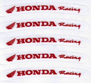 10x-HONDA-Rim-Sticker-Decal-Racing-motorcycle-excel-warp-wheel-g-force-red-clear