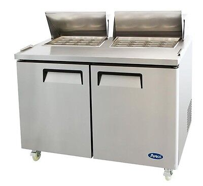 60 Commercial Mega Top Refrigerated Salad Sandwich Prep Table - 2 Doors