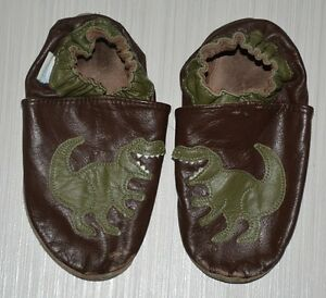 ROBEEZ Dinosaur T-Rex Leather Slippers Age 3-4 Yrs