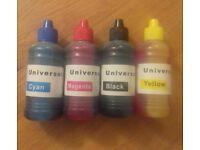 4 X Universal Ink - 100ml Refills