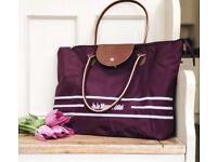 💜 NEW 💜 JoJo Maman Bebe Purple Aubergine Buggy Stroller Pram Folding Bag