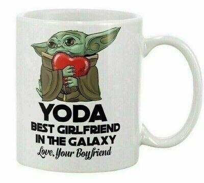 Baby Yoda Best Girlfriend In The Galaxy Love Your Boyfr Coffee Mug Tea Cup (The Best Coffee Mugs)