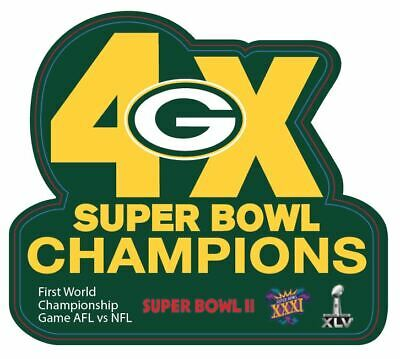 Green Bay Packers Champions Pin-Flagge Superbowl 4X Champs NFL Super Bowl Favre