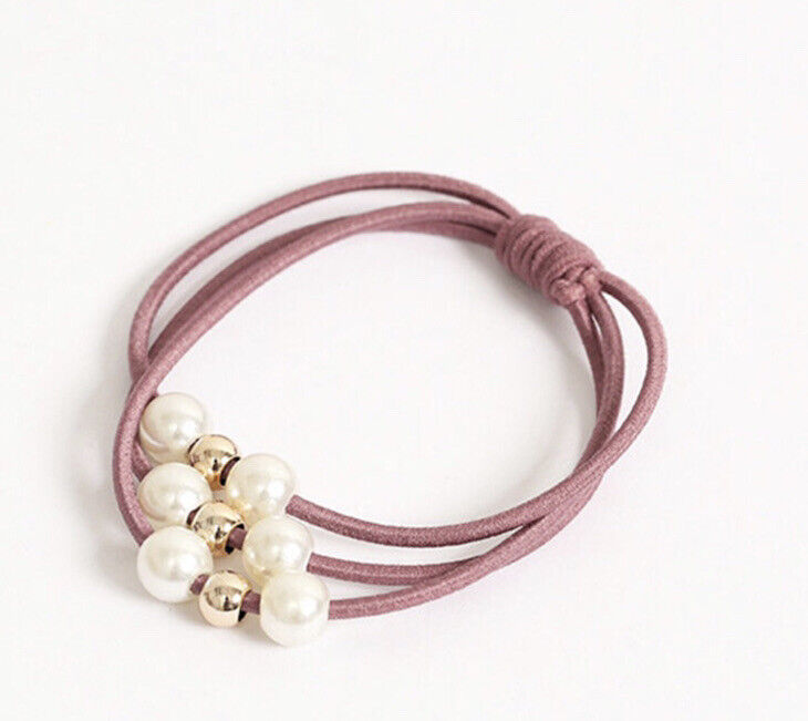 "Elastic HAIR Band  Convert to bracelet  6 Colors "" ROSE"""