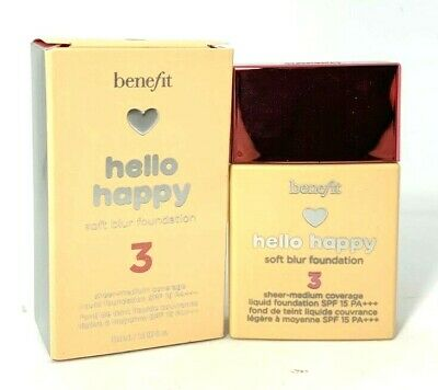 Benefit Hello Happy Soft Blur Foundation ~ 3 ~ 1 oz -