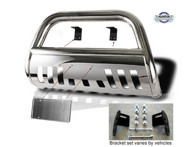 2008-Up Ford F250 F350 F450 SD chrome Push Bull Bar in Stainless Steel Bumper
