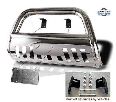 Fit 98 04 Nissan Frontier   00 04 Nissan Xterra Push Bull Bar In Stainless Steel