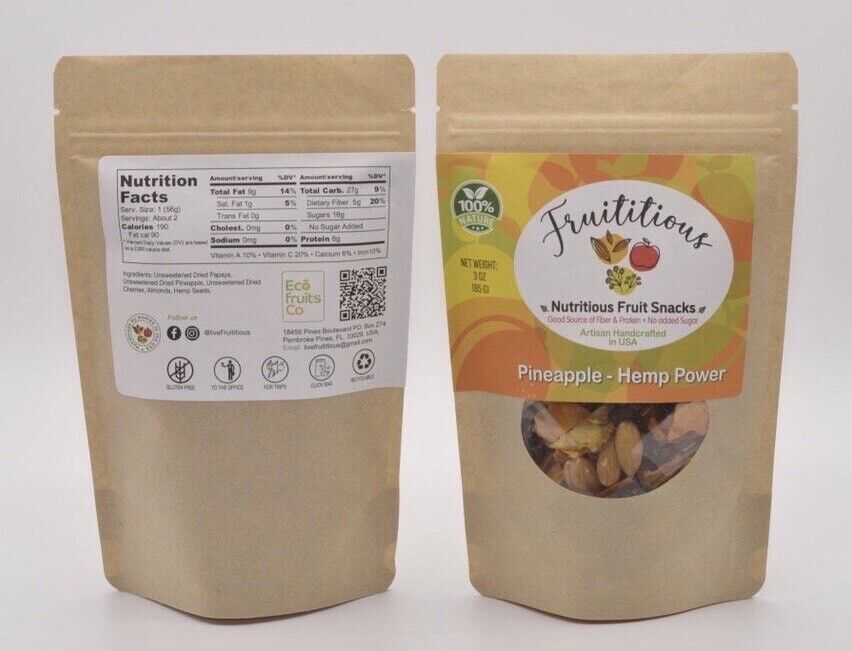 FRUITITIOUS SUPER FOOD Pineapple-hemp power Pack of 3