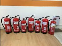 unused fire extinguishers 5 x water for sale perfect for offices/shops