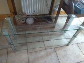 Matrix Glass TV Table.