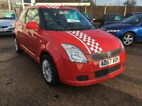 SUZUKI SWIFT 1.3 GL 3DR 3-DOOR HATCHBACK IN RED