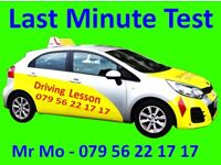 Driving Lesson, Last Minute Driving Test.