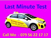 Last minute Driving Test
