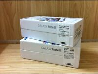BRAND NEW SAMSUNG GALAXY NOTE 2 UNLOCKED 16GB SMARTPHONE -BLACK, GREY AND WHITE COLOURS