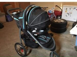 Graco fast action fold 3 wheeler travel system
