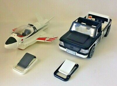 PLAYMOBIL CLIP AND GO JET PLANE AND CAR WITH CLIPS