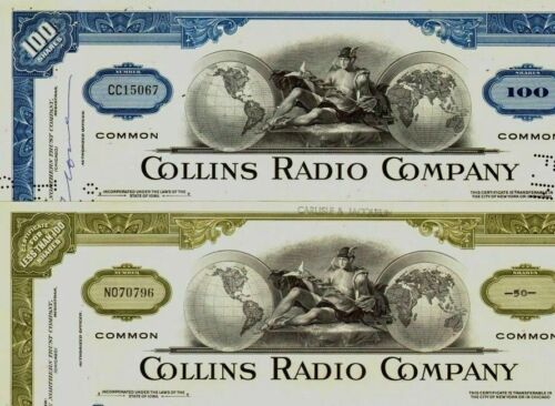 100 HOT COLLINS RADIO STOX! MFR WW2 RADIOS! DECO 60