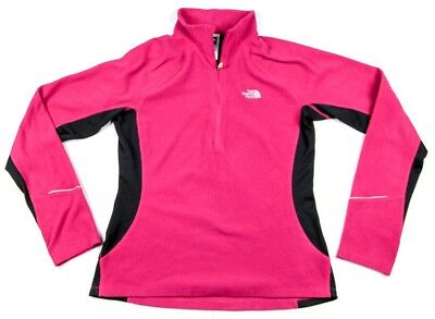 The North Face Flight Series Women's Pink 1/4 Zip Jacket w/ Thumb Holes -Size M