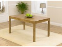 Oxford Solid Oak Dining Table seats 6 people & 2 Chairs