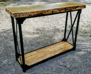 New Mennonite made live edge table for sale
