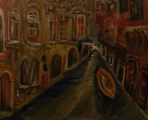 "'Canal 2"", oil painting on canvas"
