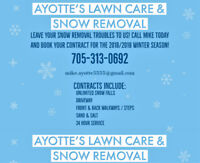 SNOW REMOVAL-Ayotte's Lawn Care & Snow Removal
