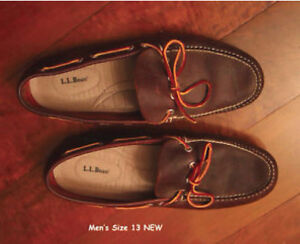 Deck Shoes LL Bean size 13 NEW
