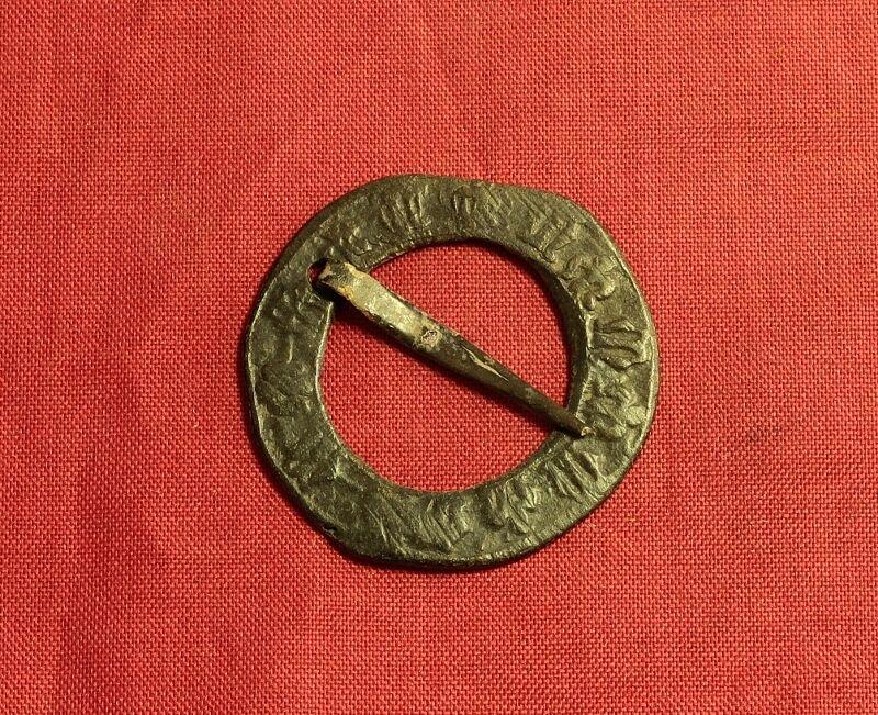 "Medieval Ghotic Belt Buckle, 14. Century - ""M"" Characters"