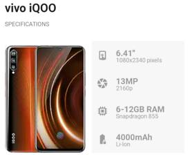 Vivo Iqoo Gaming phone
