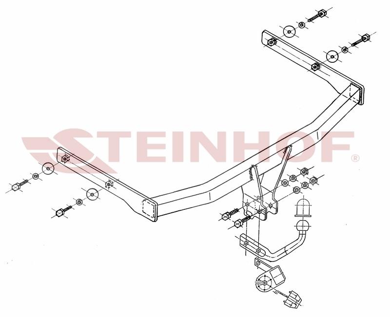 Anhängerkupplung AHK starr für VW Touran I 1T Minivan 2003-2015 E-Satz 13-polig
