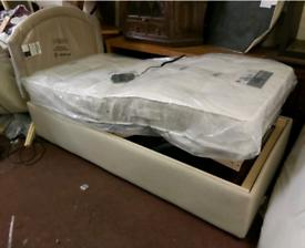 Single Bed - Quality Ex-Display Light Brownish Fabric Multi-position B