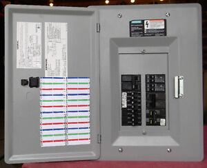 Panneau siemens 100 AMP avec son main breaker 12/24 circuits