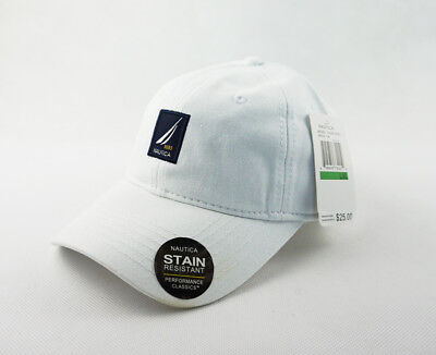 Rare Unisex Nautica Hat 100% Cotton Baseball Golf Ball Cap New White Adjustable
