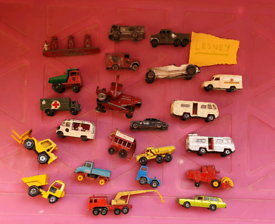 23 LESNEY Vintage diecast metal toy cars tractors trucks made england