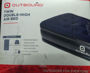 outbound twin double high air bed