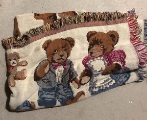 Blanket - Full Size Teddy Bears