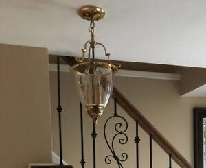 3 Lamp Brass Light Fixture