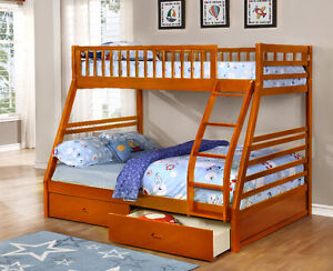 Twin over Full Bunk Bed w/ Storage Drawers! Free Delivery! Edmonton Edmonton Area image 3