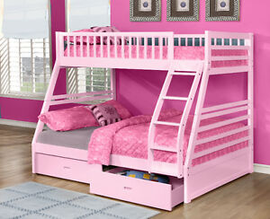 Twin over Full Bunk Bed w/ Storage Drawers! Free Delivery! Edmonton Edmonton Area image 4
