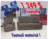 Sofa & fauteuil microfibre - LIQUIDATION PERMANENTE A L'ENTREPÔT