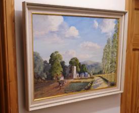 Large Oil Painting Signed G Walker 64 - See Details