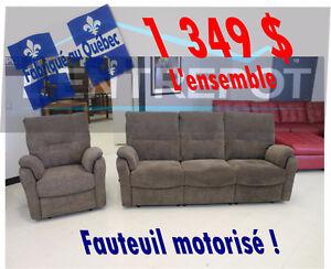 Sofa & fauteuil microfibre - L'ENTREPÔT FAIT DES VRAIS PRIX BAS