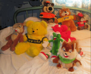 10 Hard-To-Find - Stuffies (Collectible Plush Advertising Toys)
