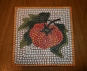 4 Italian handpainted porcelain tiles trivet hotplate decorative West Island Greater Montréal image 3