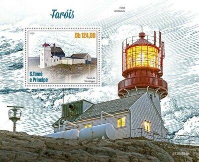 St Thomas - 2020 Terningen Lighthouse - Stamp Souvenir Sheet - ST200521b